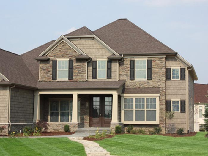 Custom Brick Home Facade