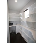 Walk-In Closet with Built-In Storage
