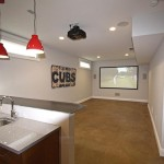 Lower Level Wet Bar and Entertainment Space