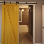 Barndoor Entrance to Master Bathroom